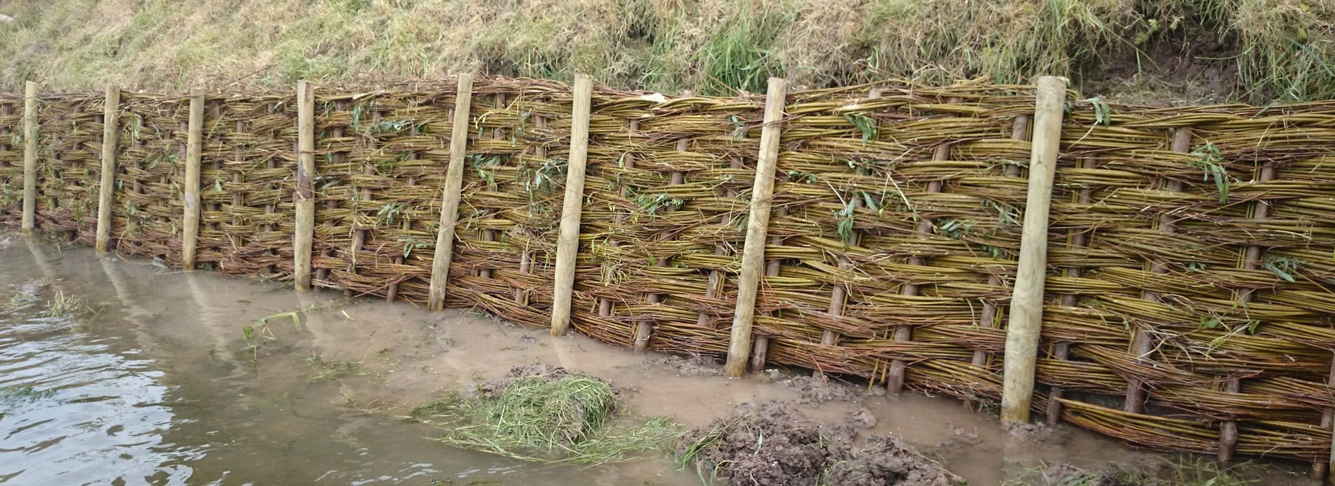 Natural materials for environmental river bank stabilisation