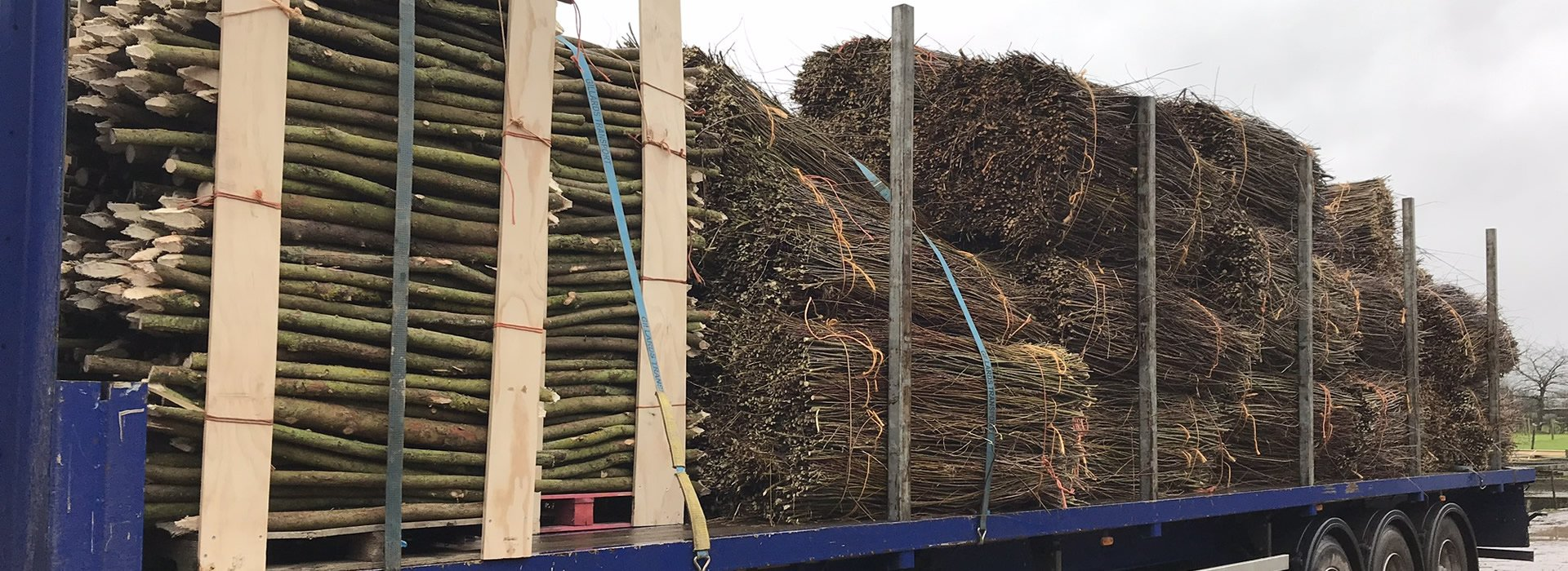 Supply of spiling and stakes in large volumes